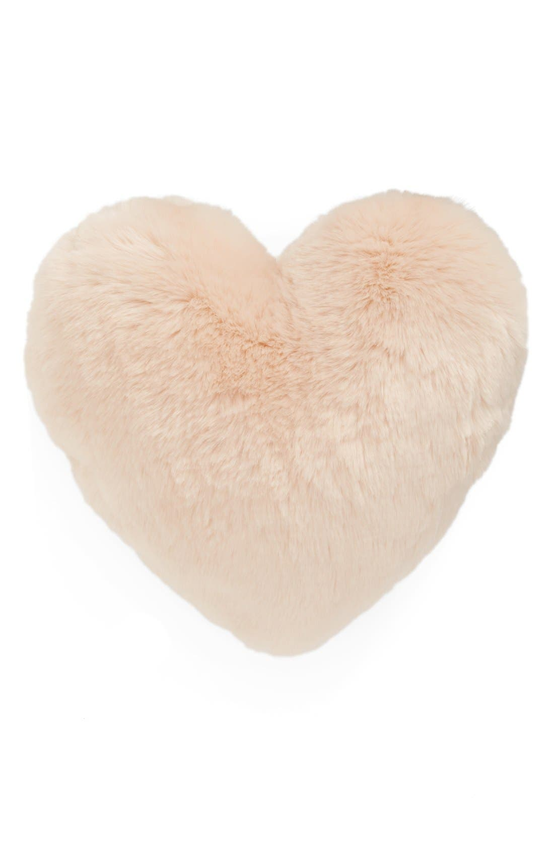 Alternate Image 2  - Nordstrom at Home 'Cuddle Up' Faux Fur Heart Accent Pillow