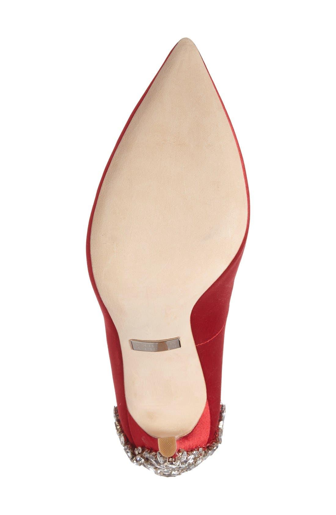 Alternate Image 4  - Badgley Mischka 'Gorgeous' Crystal Embellished Pointy Toe Pump (Women)
