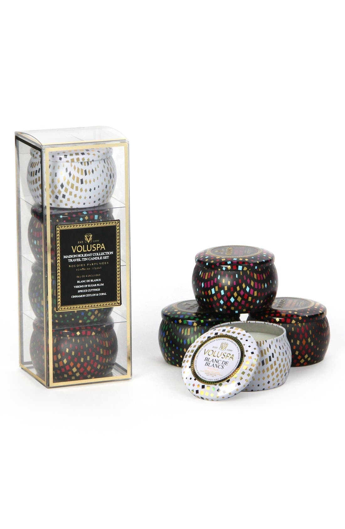 Main Image - Voluspa Maison Travel Tin Candles (Set of 4)