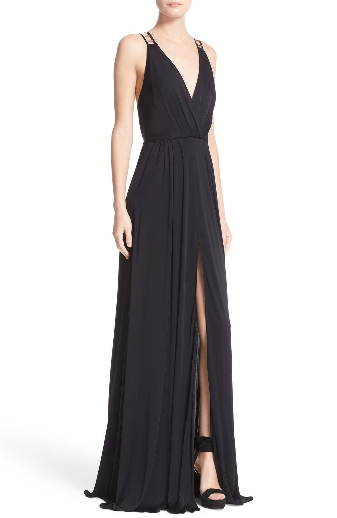 Alternate Image 6  - Versace Embellished Matte Jersey Gown