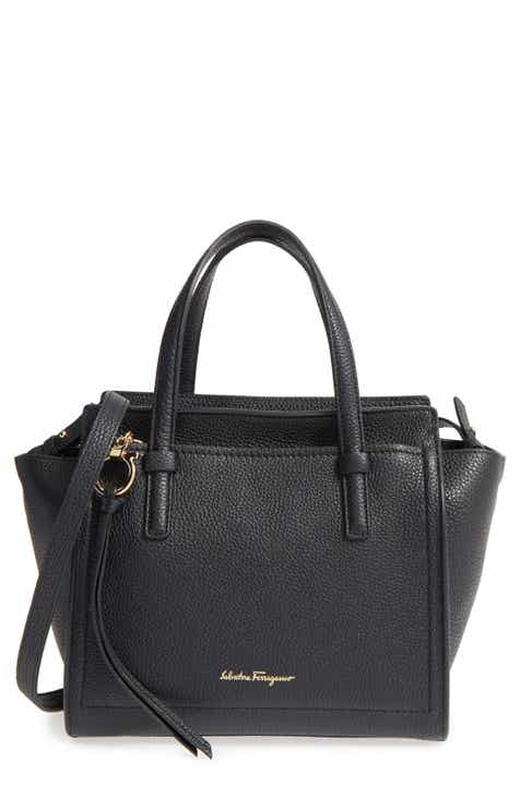 ac7f04c875b3 Salvatore Ferragamo Small Amy Pebbled Leather Tote