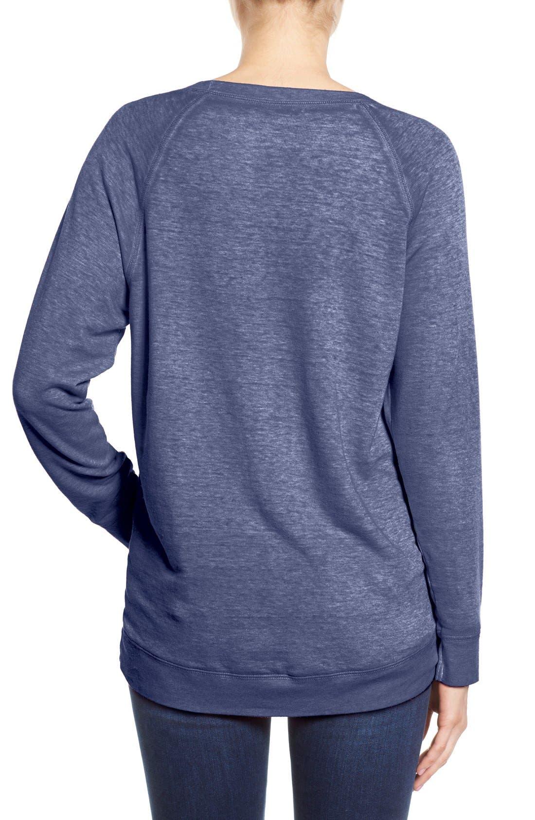 Alternate Image 2  - Caslon® Burnout Sweatshirt (Regular & Petite)