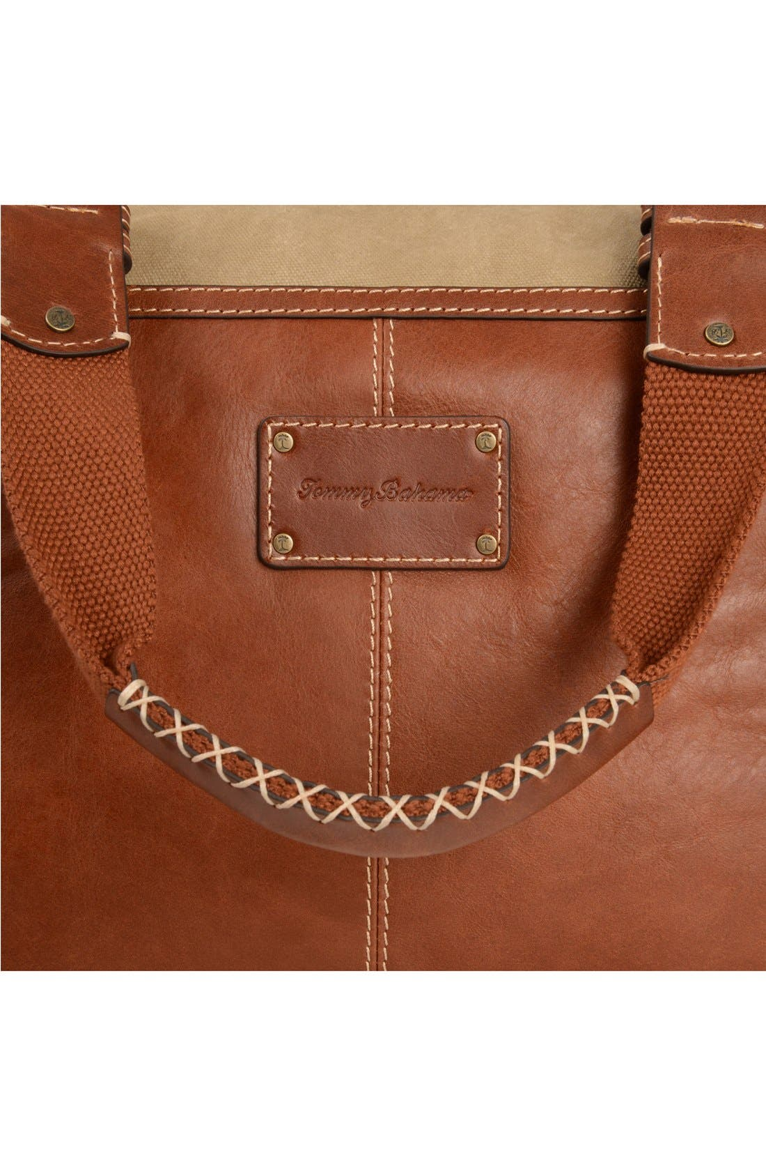 Alternate Image 4  - Tommy Bahama Canvas & Leather Duffel Bag