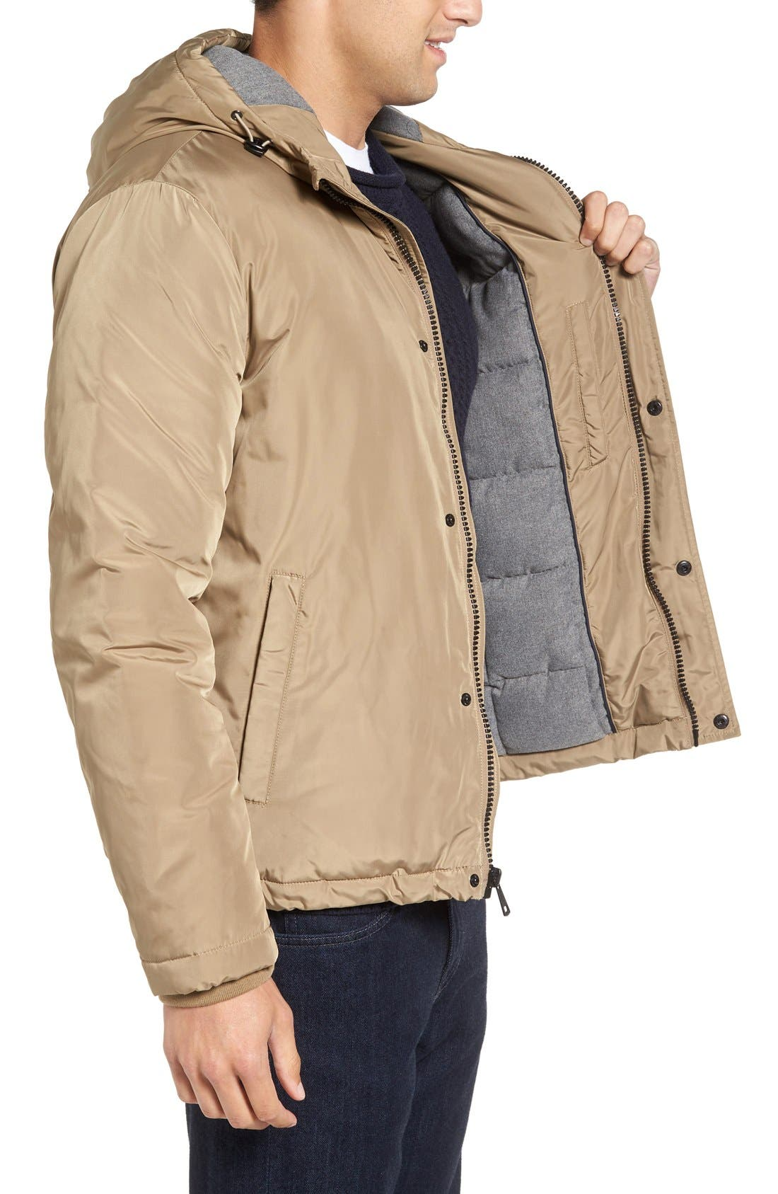 Water Resistant Insulated Jacket,                             Alternate thumbnail 3, color,                             Khaki