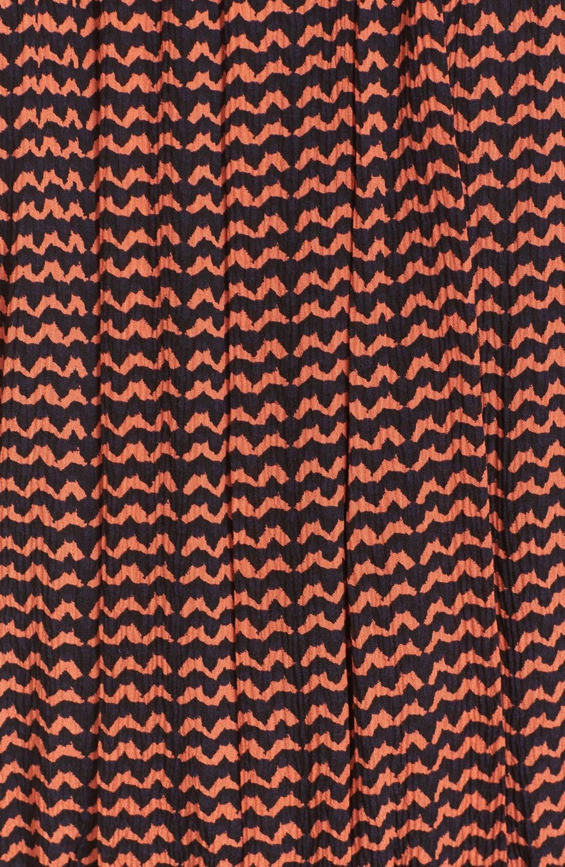 'Lippard' Tassel Trim Silk Dress,                             Alternate thumbnail 5, color,                             Tiny Ripples Print