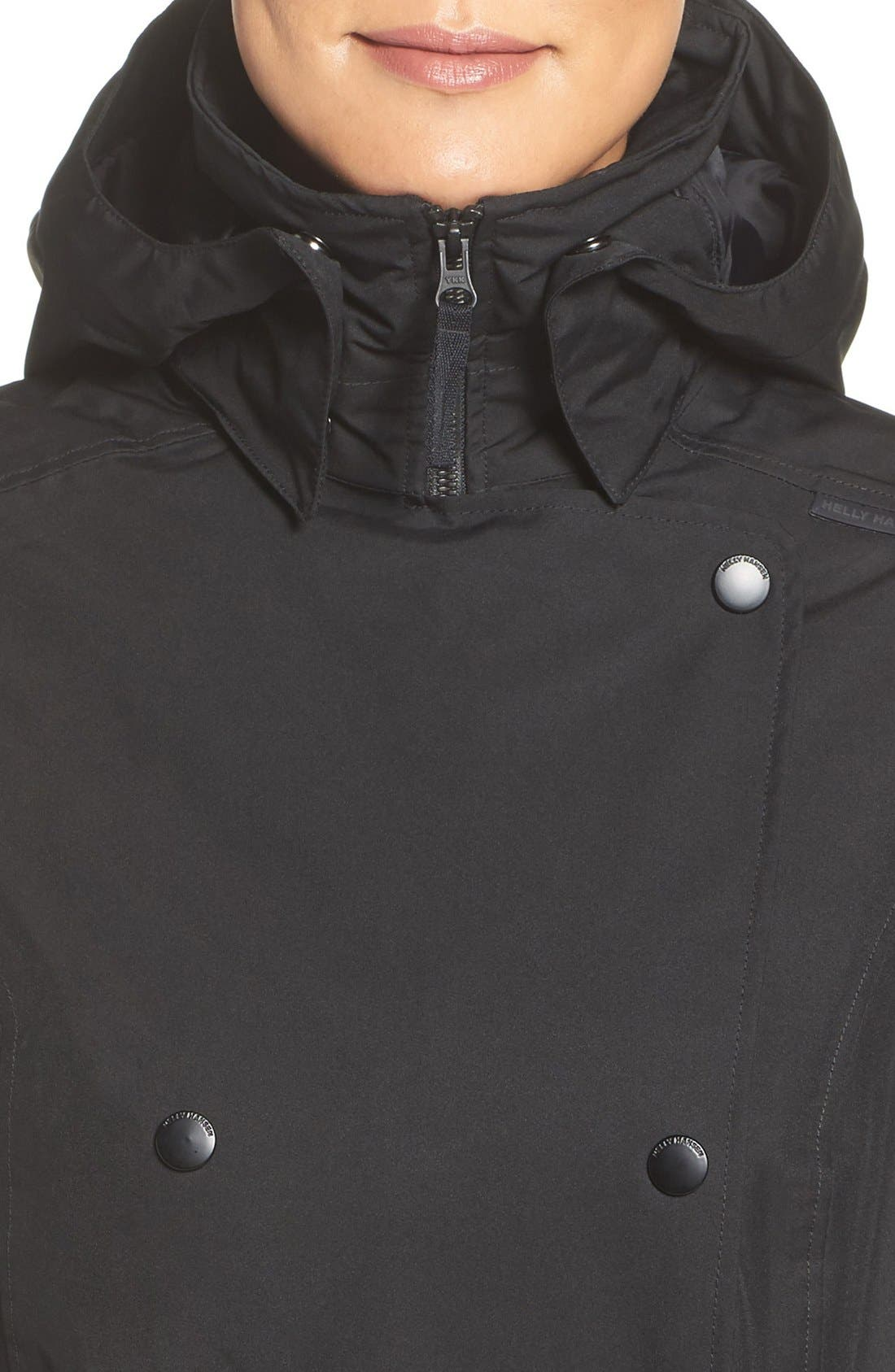 Alternate Image 4  - Helly Hansen 'Welsey' Insulated Waterproof Trench Coat