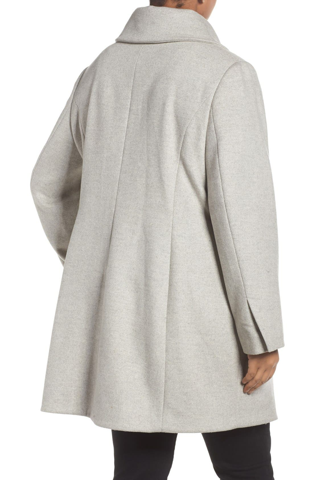 Asymmetrical Coat,                             Alternate thumbnail 2, color,                             Light Grey