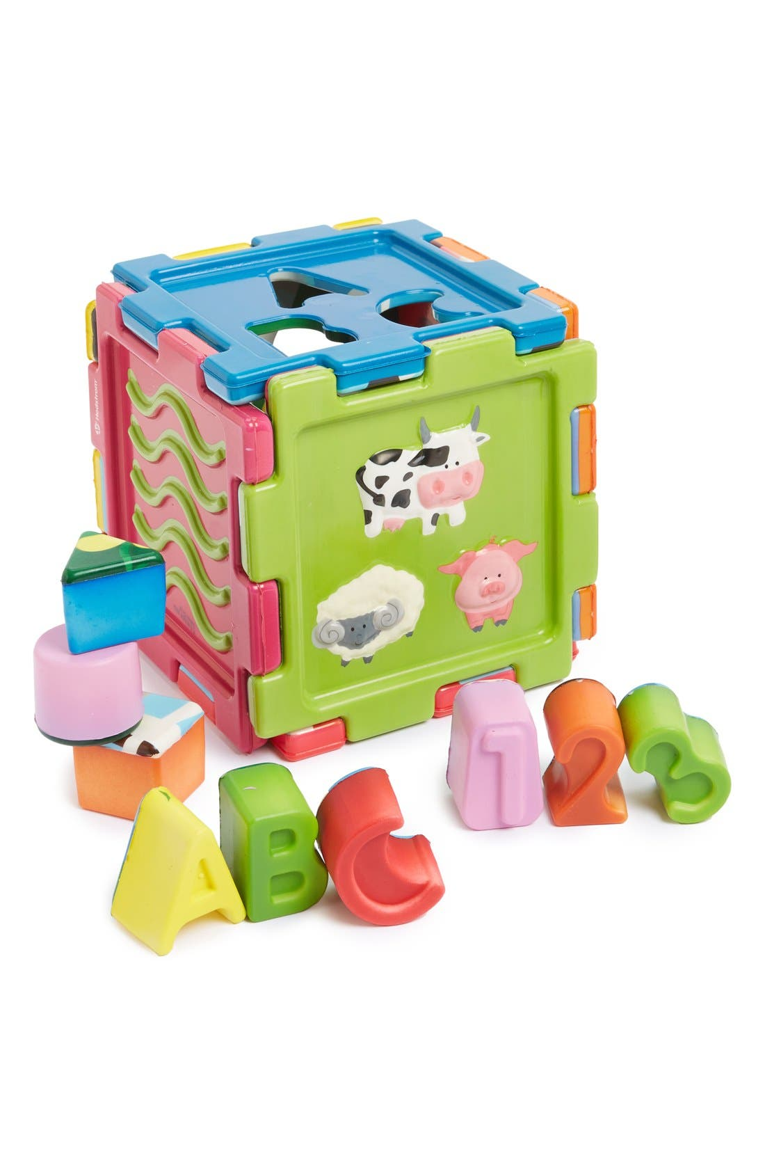 'Sensory Cube' Toy Set,                             Main thumbnail 1, color,                             Blue