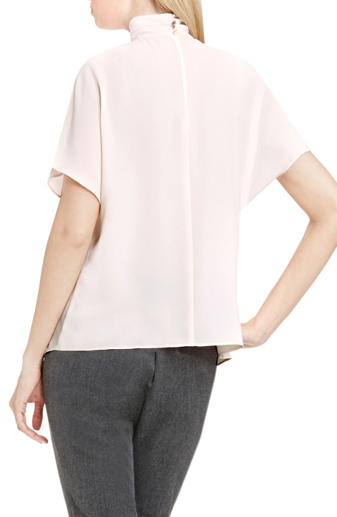 Alternate Image 2  - Vince Camuto Shirred Mock Neck Blouse