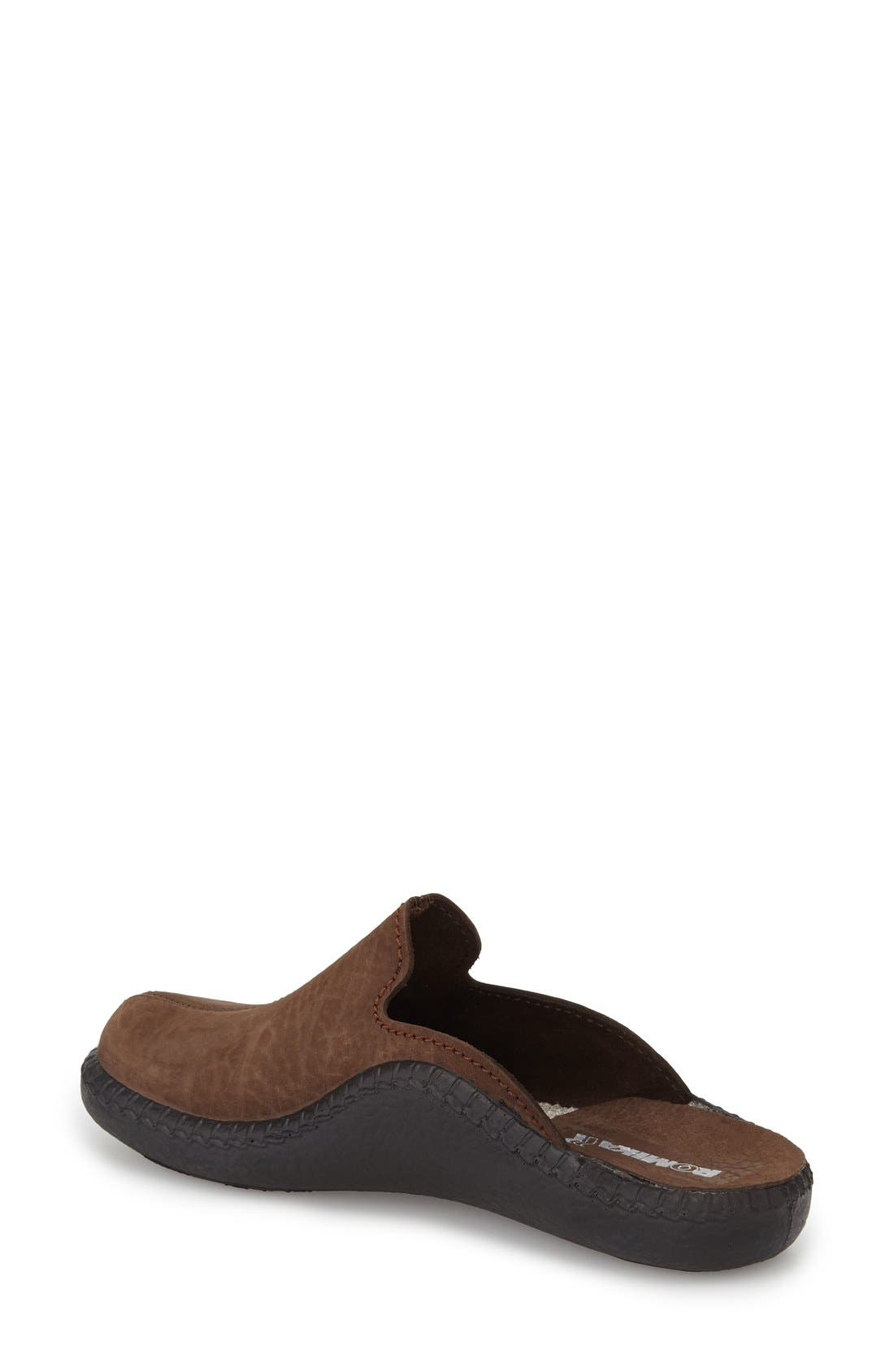 'Mokasso 102' Mule,                             Alternate thumbnail 2, color,                             Brown Leather