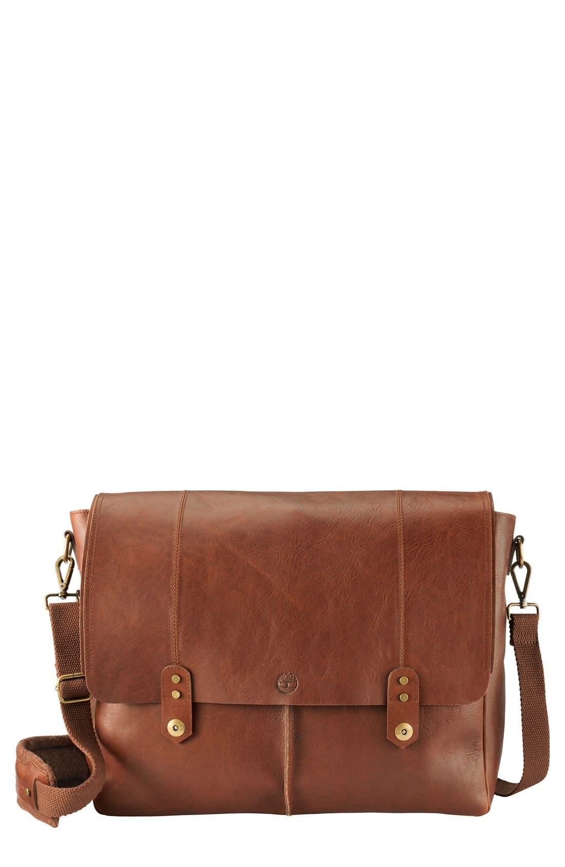 Main Image - Timberland 'Walnut Hill' Leather Messenger Bag