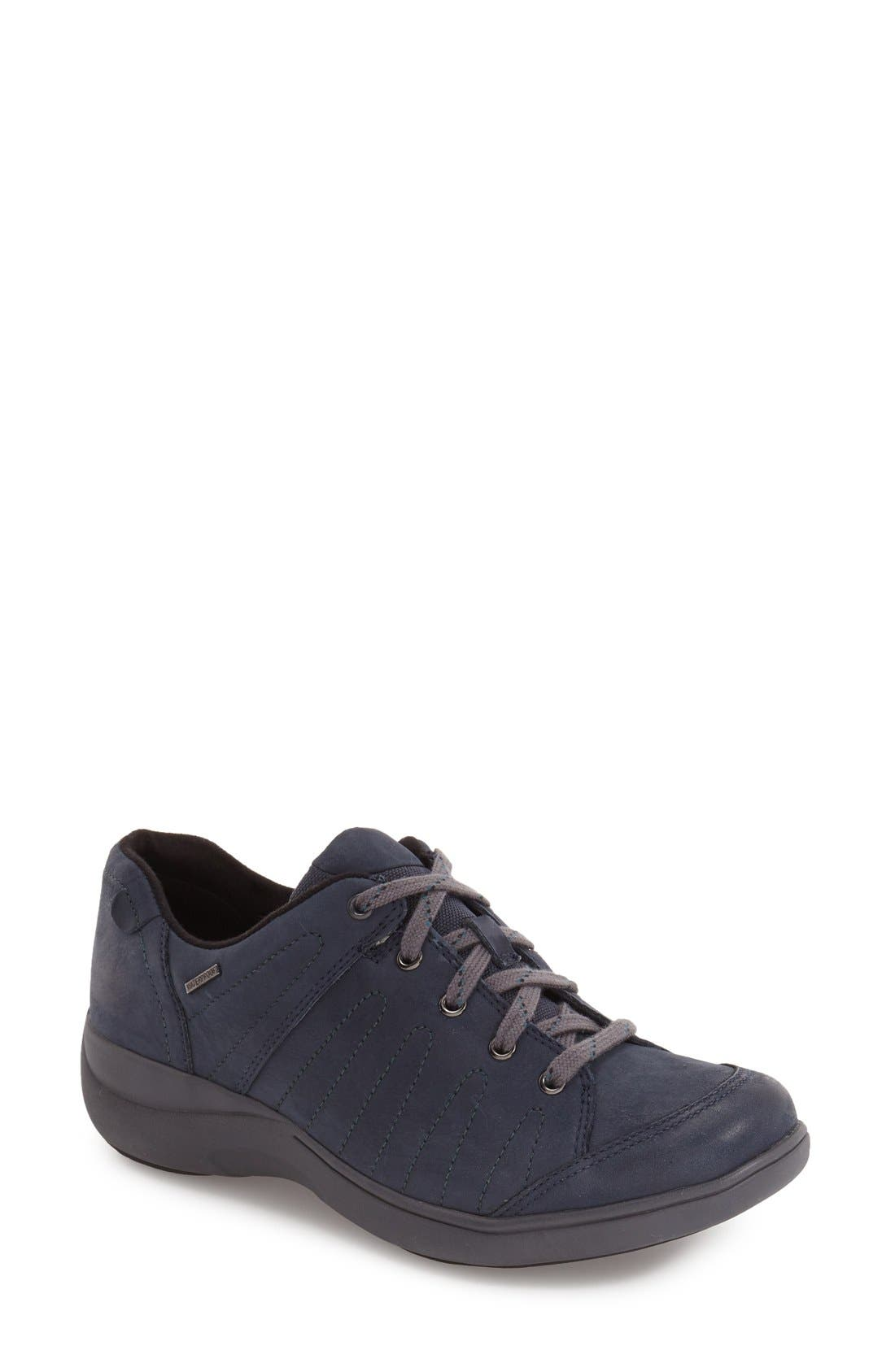 'REVsavor' Waterproof Sneaker,                             Main thumbnail 1, color,                             Navy Leather