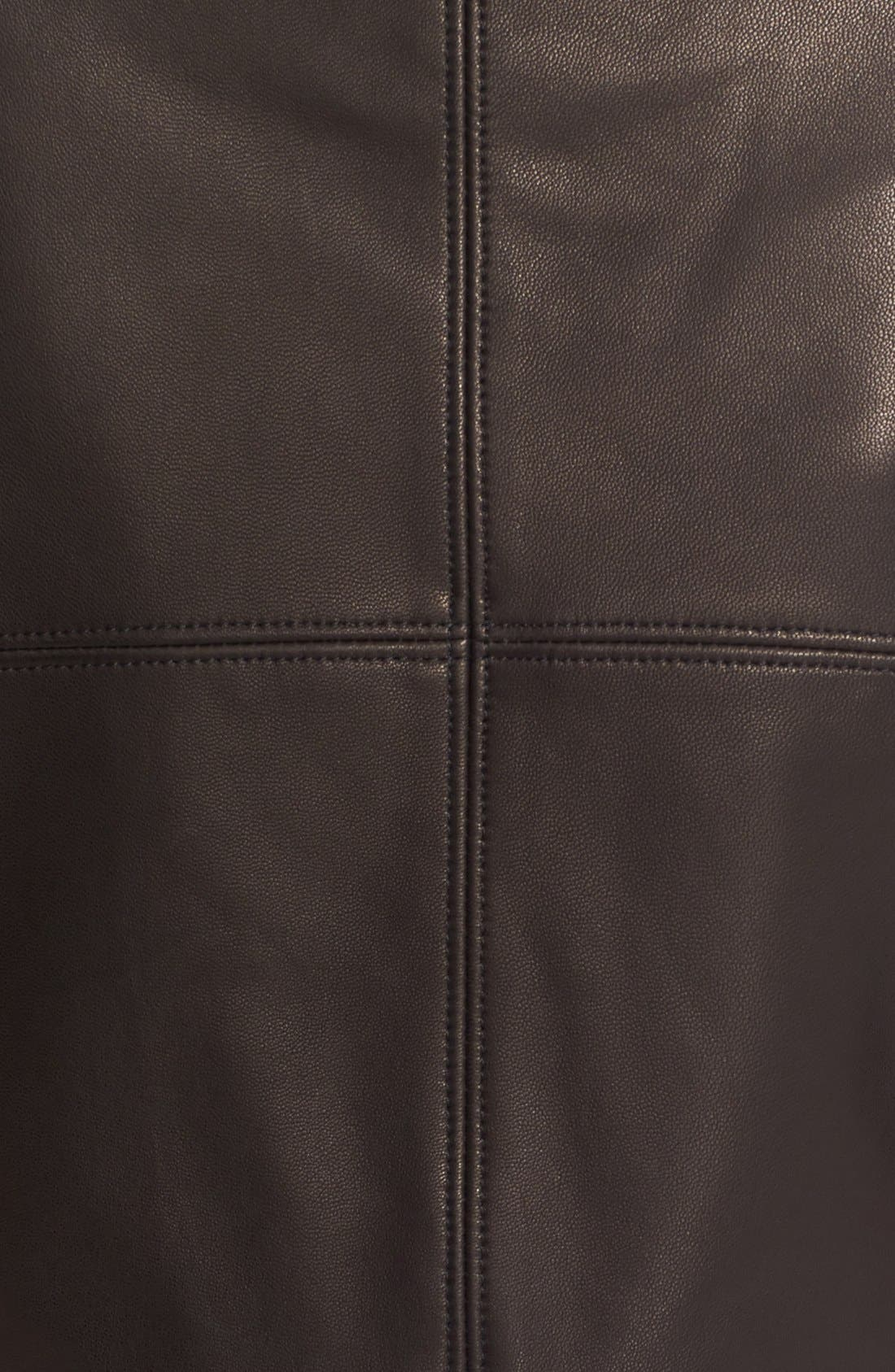 'Gimmy' Crop Lambskin Leather Jacket,                             Alternate thumbnail 3, color,                             Jet