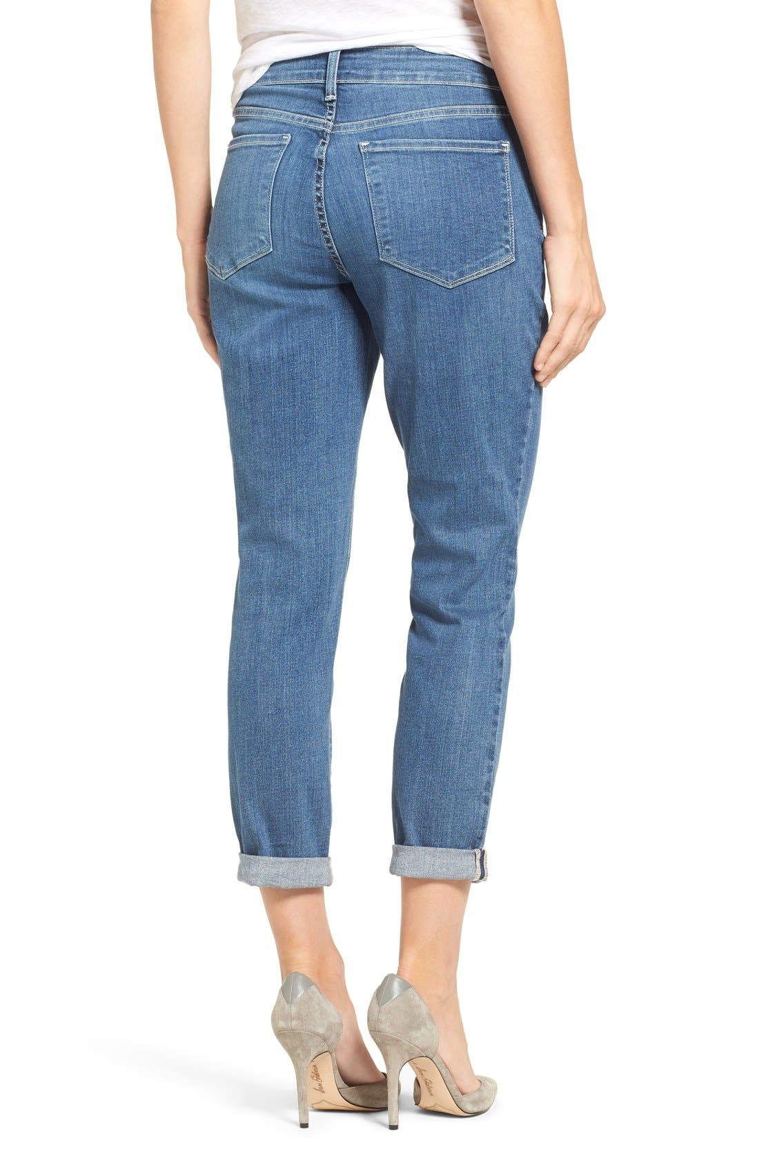 Alina Stretch Ankle Jeans,                             Alternate thumbnail 3, color,                             Heyburn