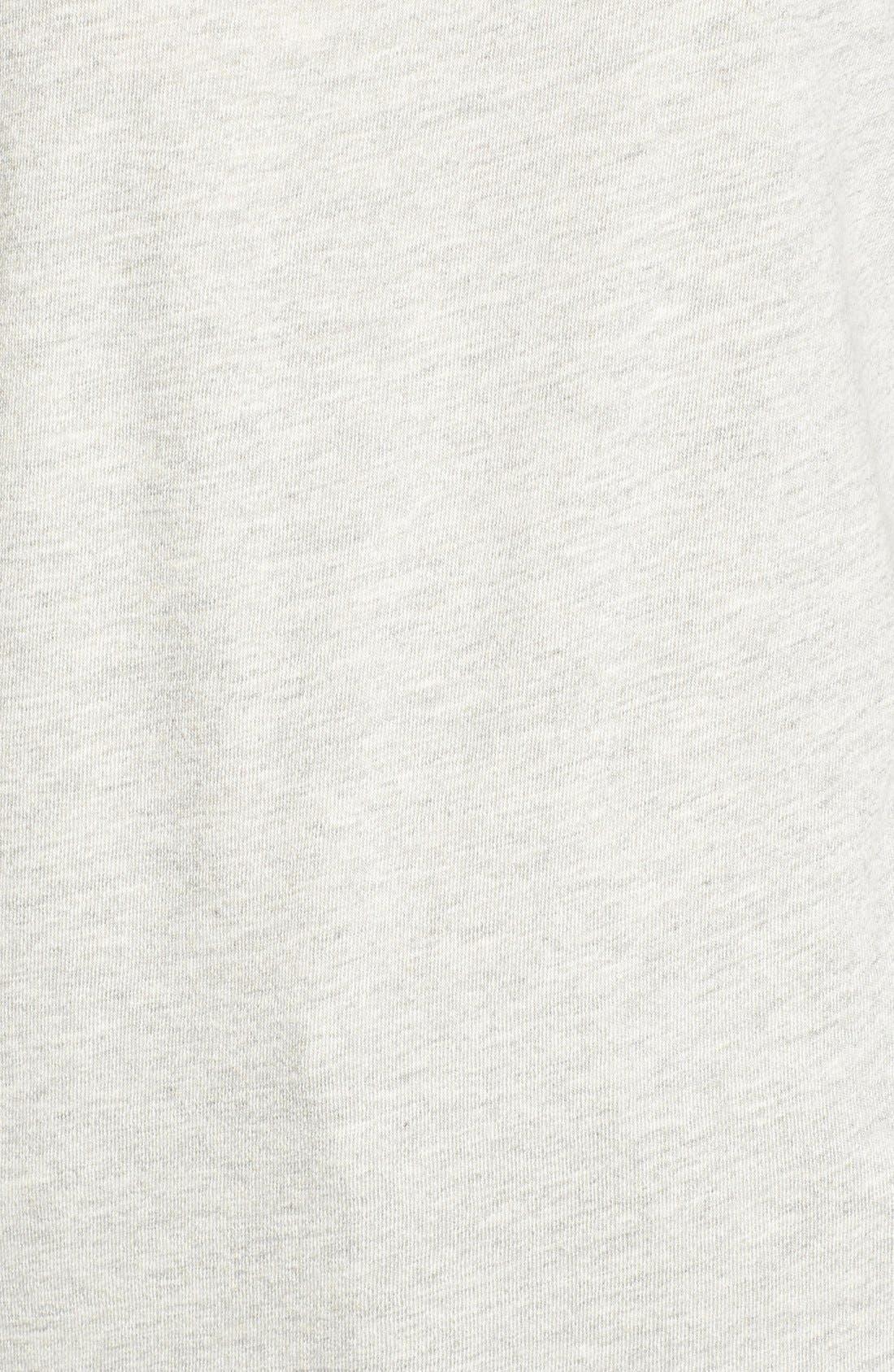 Distressed Open Shoulder Sweatshirt,                             Alternate thumbnail 5, color,                             Heather Grey