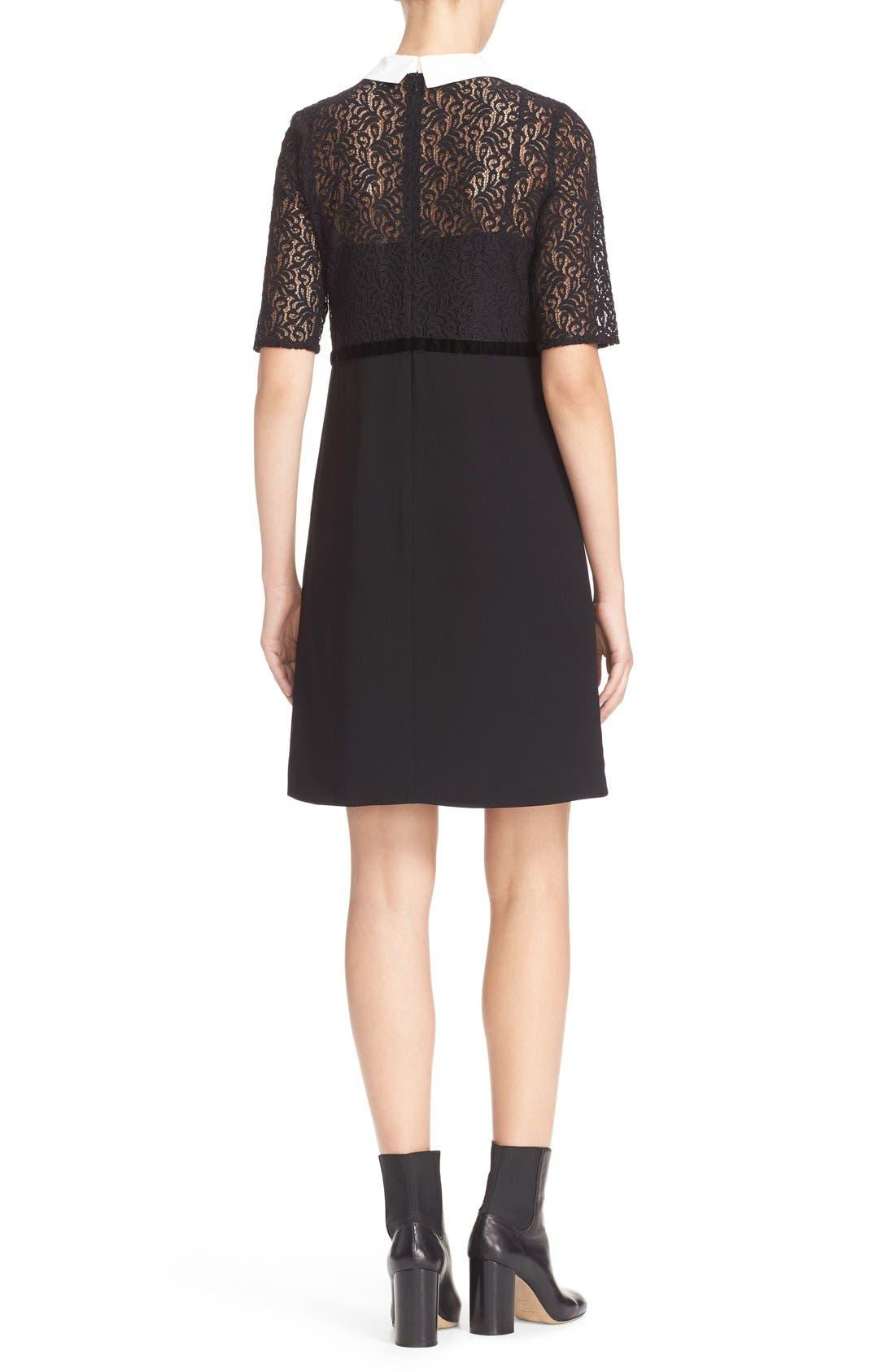 Alternate Image 2  - The Kooples Lace Overlay Crepe Dress