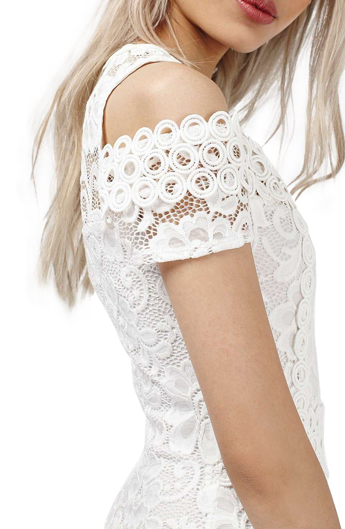 Alternate Image 5  - Topshop Cold Shoulder Lace Body-Con Dress