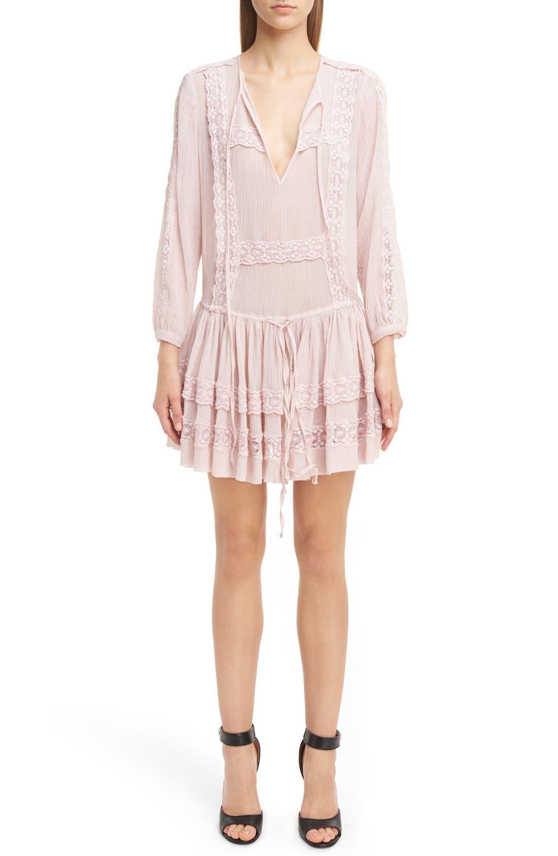 Main Image - Givenchy Ruffle Crepon Peasant Dress