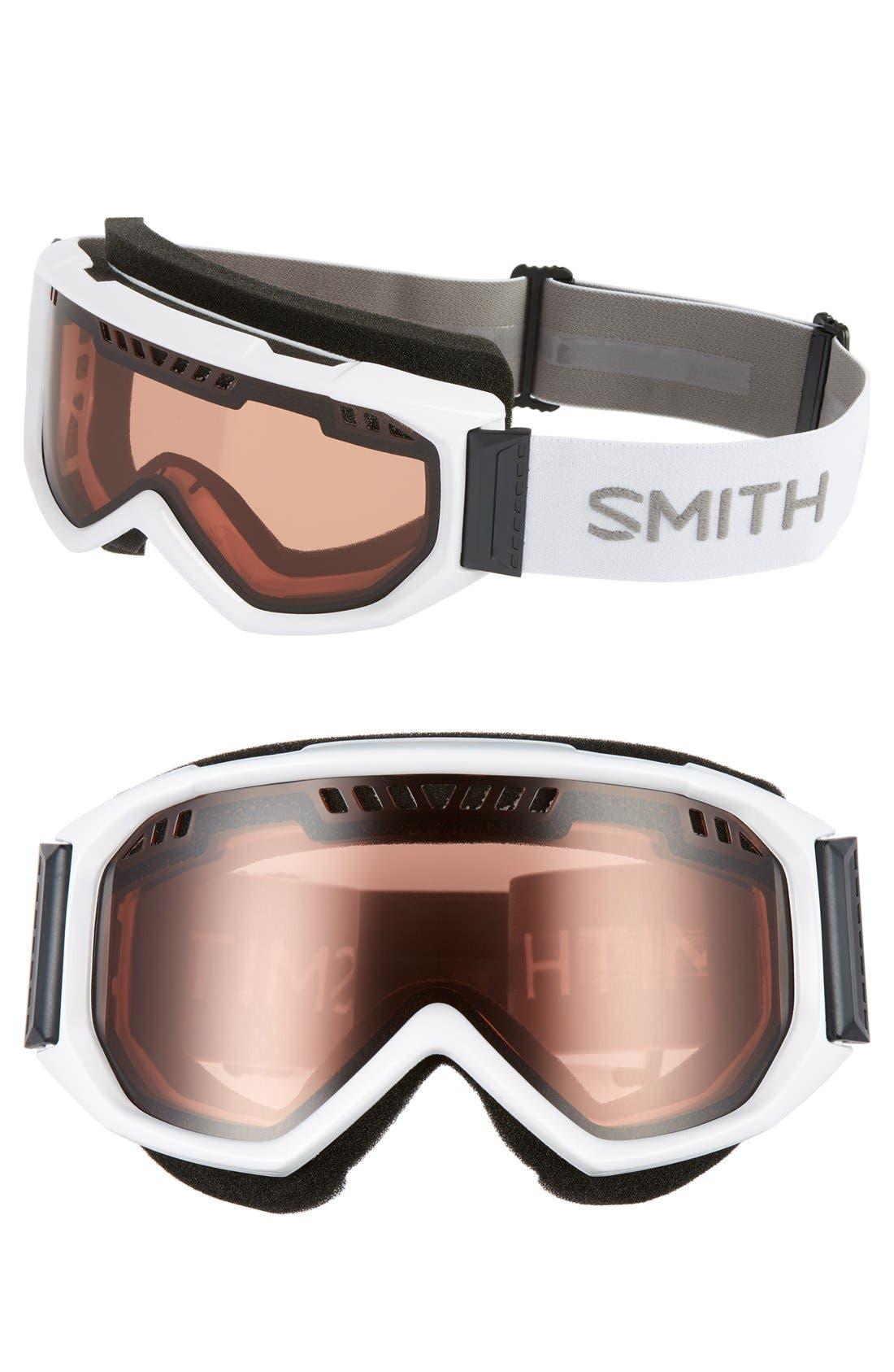 Scope Snow Goggles,                         Main,                         color, White