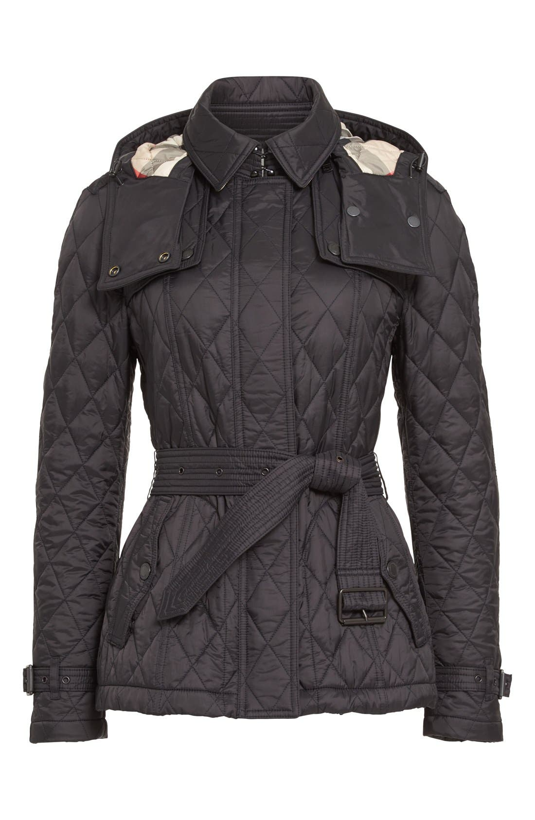 Alternate Image 4  - BurberryFinsbridge Short Quilted Jacket