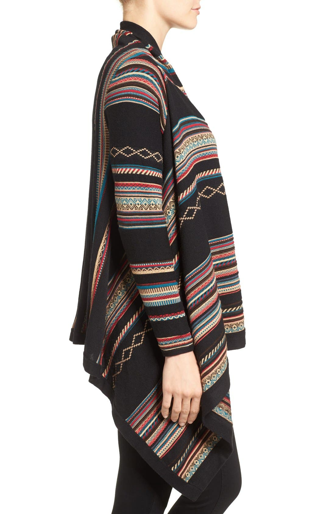 Stripe Jacquard Cardigan,                             Alternate thumbnail 3, color,                             Multi