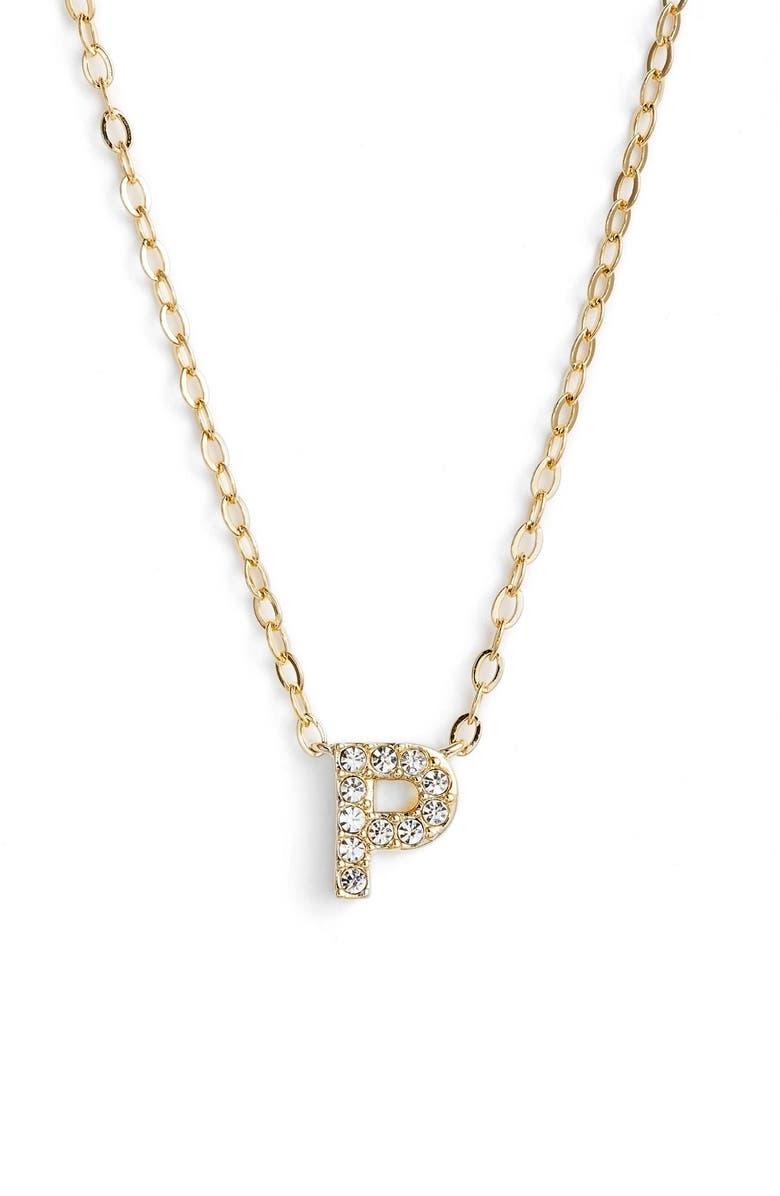 Nadri initial pendant necklace p gold modesens nadri initial pendant necklace p gold aloadofball Choice Image