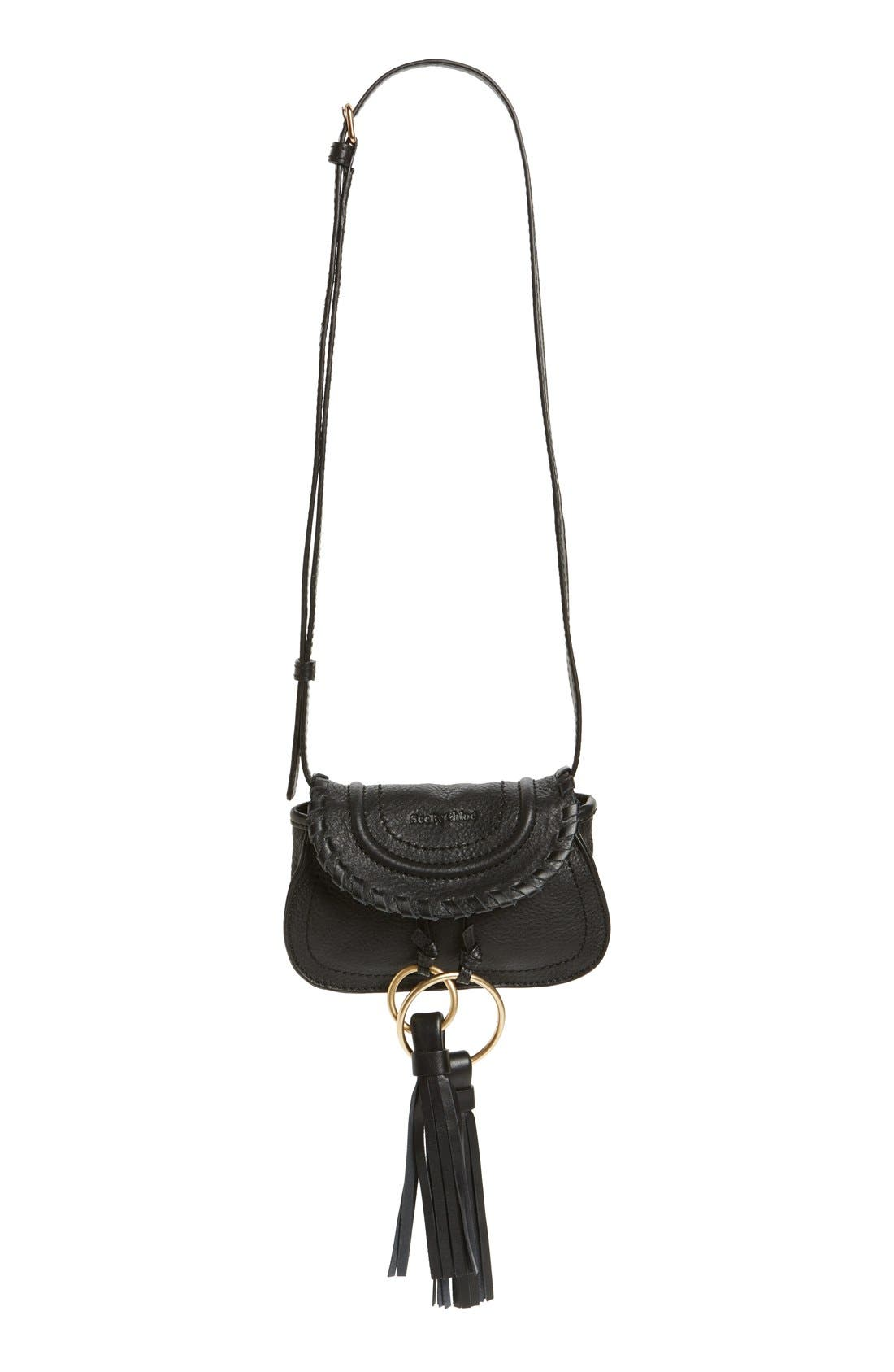 See by Chloé Nano Polly Leather Crossbody Bag