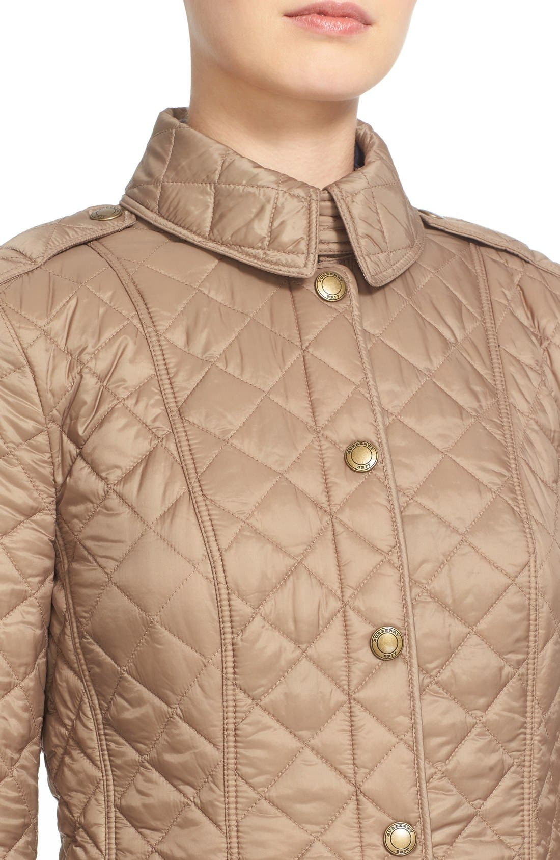 Alternate Image 6  - Burberry Brit 'Kencott' Patch Pocket Quilted Coat