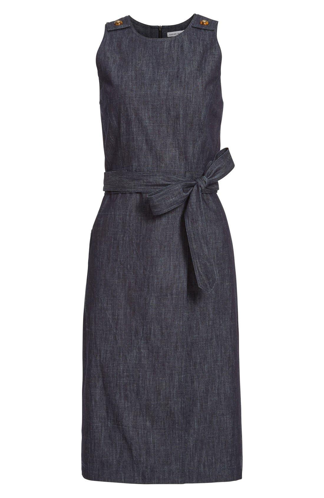 Alternate Image 4  - Tomas Maier Belted Denim Dress