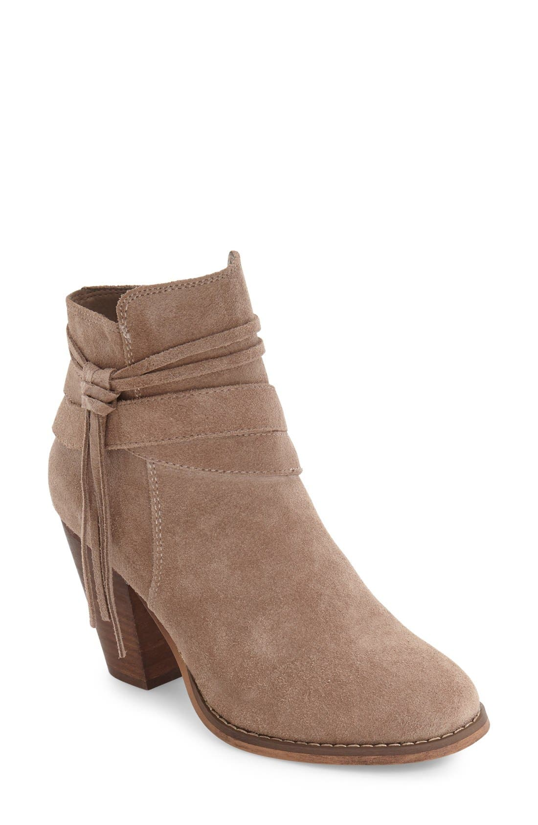 Rumi Bootie,                             Main thumbnail 1, color,                             Taupe