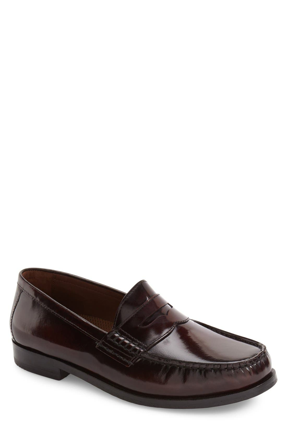 Pannell Penny Loafer,                             Main thumbnail 1, color,                             Burgundy Leather