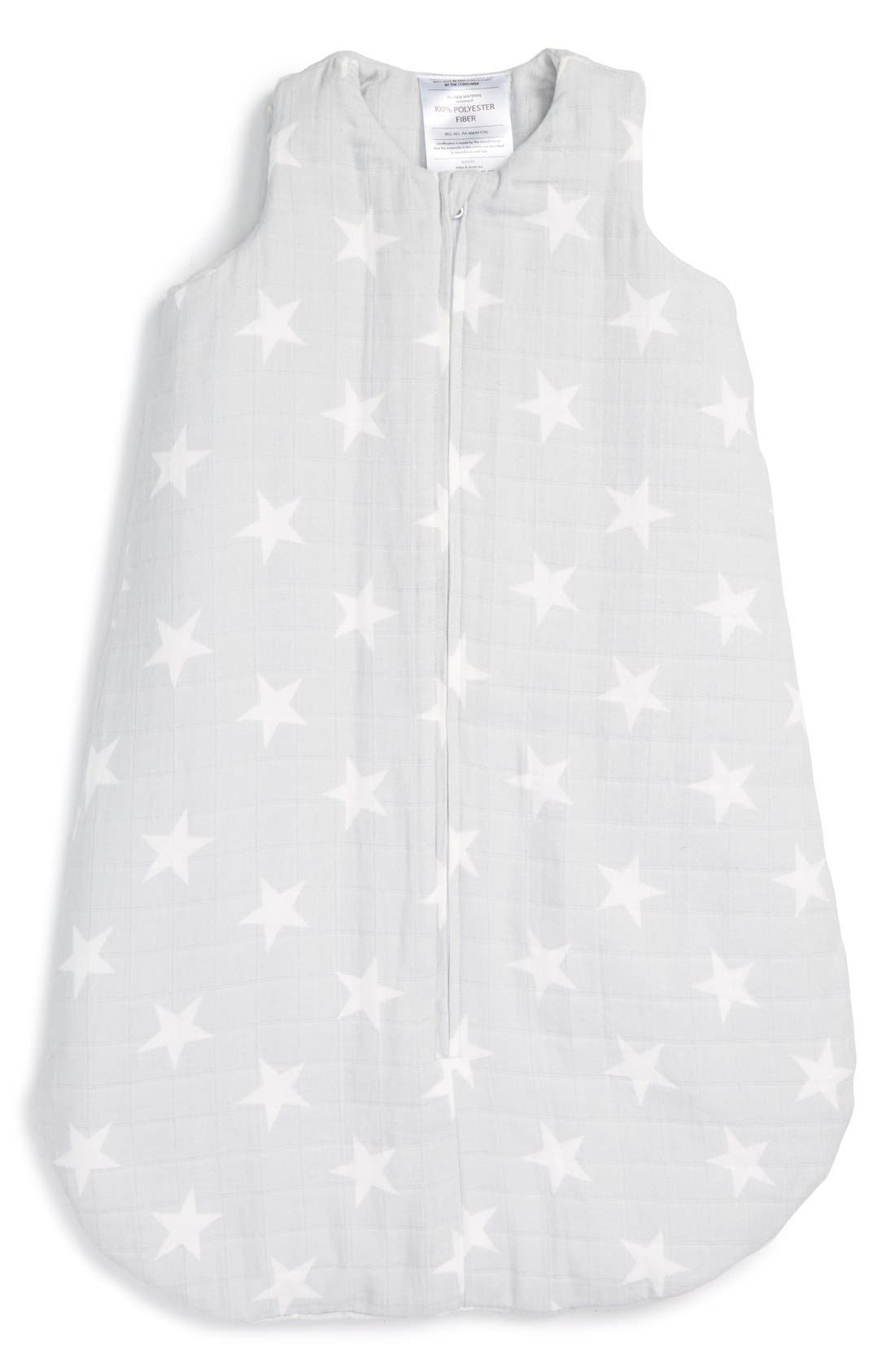 Alternate Image 1 Selected - aden + anais Flannel & Muslin Wearable Cold Temperature Blanket (Baby)