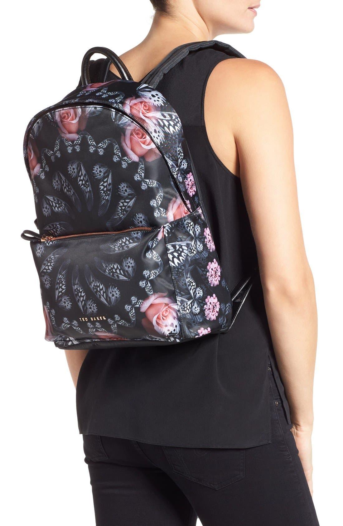 Alternate Image 2  - Ted Baker London Dynamic Butterfly Print Backpack