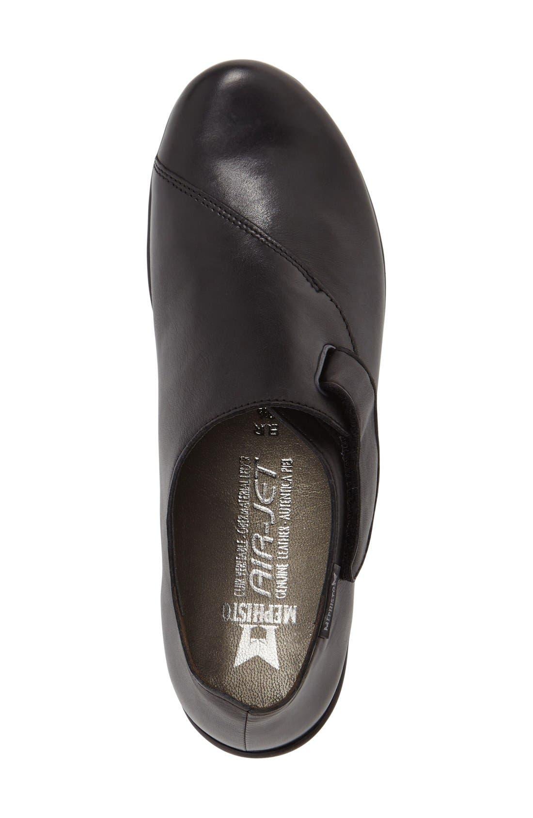 'Luce' Sneaker,                             Alternate thumbnail 3, color,                             Black Silk Leather