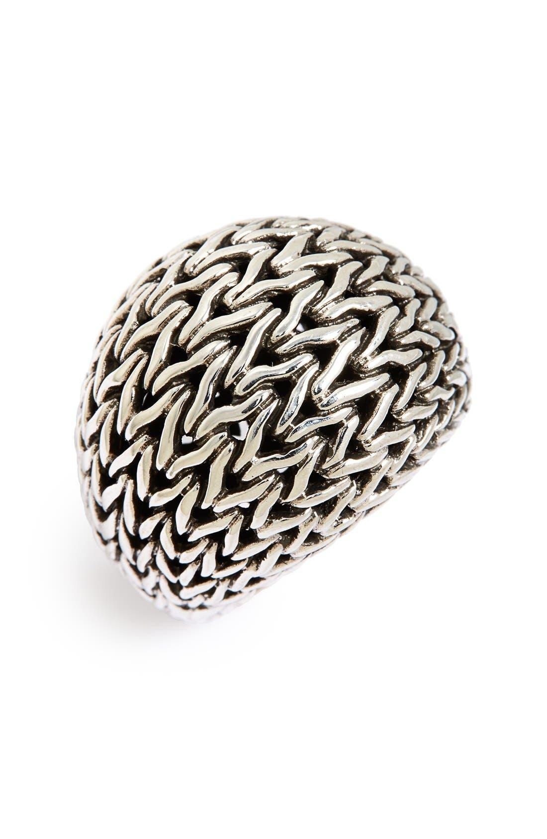 Classic Chain Dome Ring,                         Main,                         color, Silver
