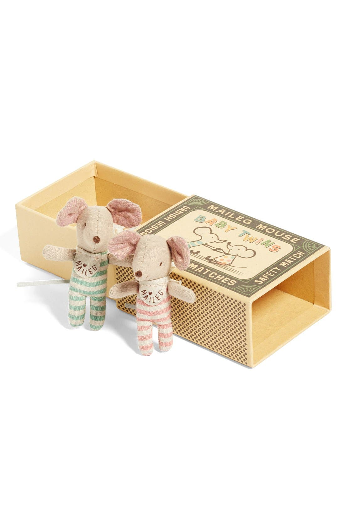Baby Twins Stuffed Toy Mice in a Box,                             Alternate thumbnail 3, color,                             Multi