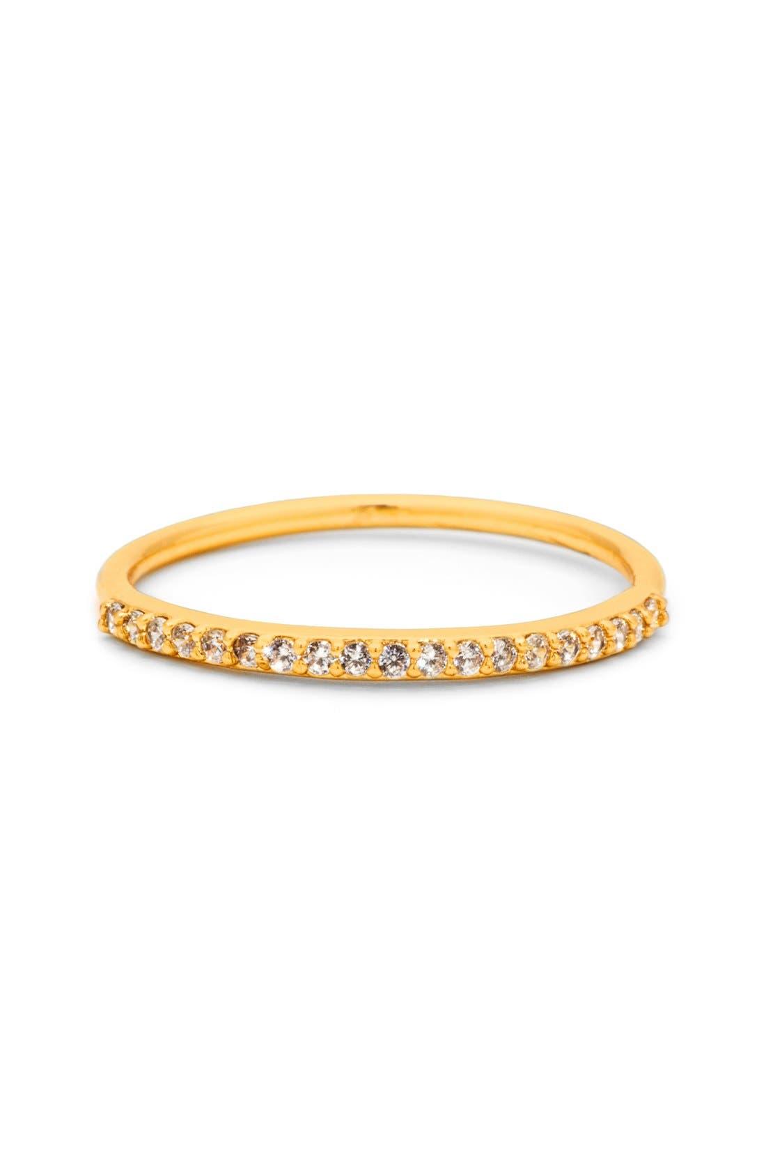 Main Image - gorjana Shimmer Bar Midi Ring