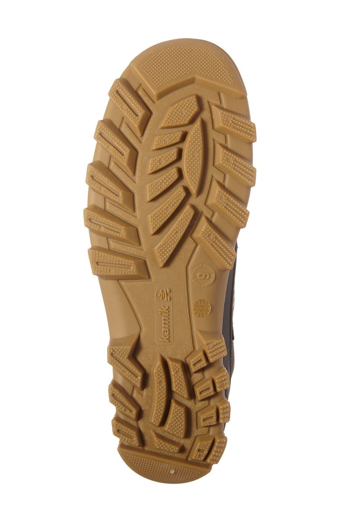 Yukon C Snow Boot,                             Alternate thumbnail 4, color,                             Dark Brown Leather