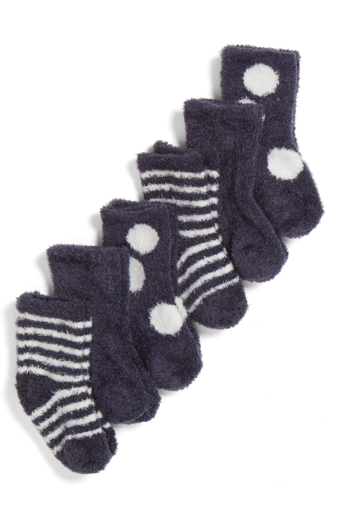 Alternate Image 2  - Little Giraffe Box of Socks™ 6-Pack Set (Baby Girls)