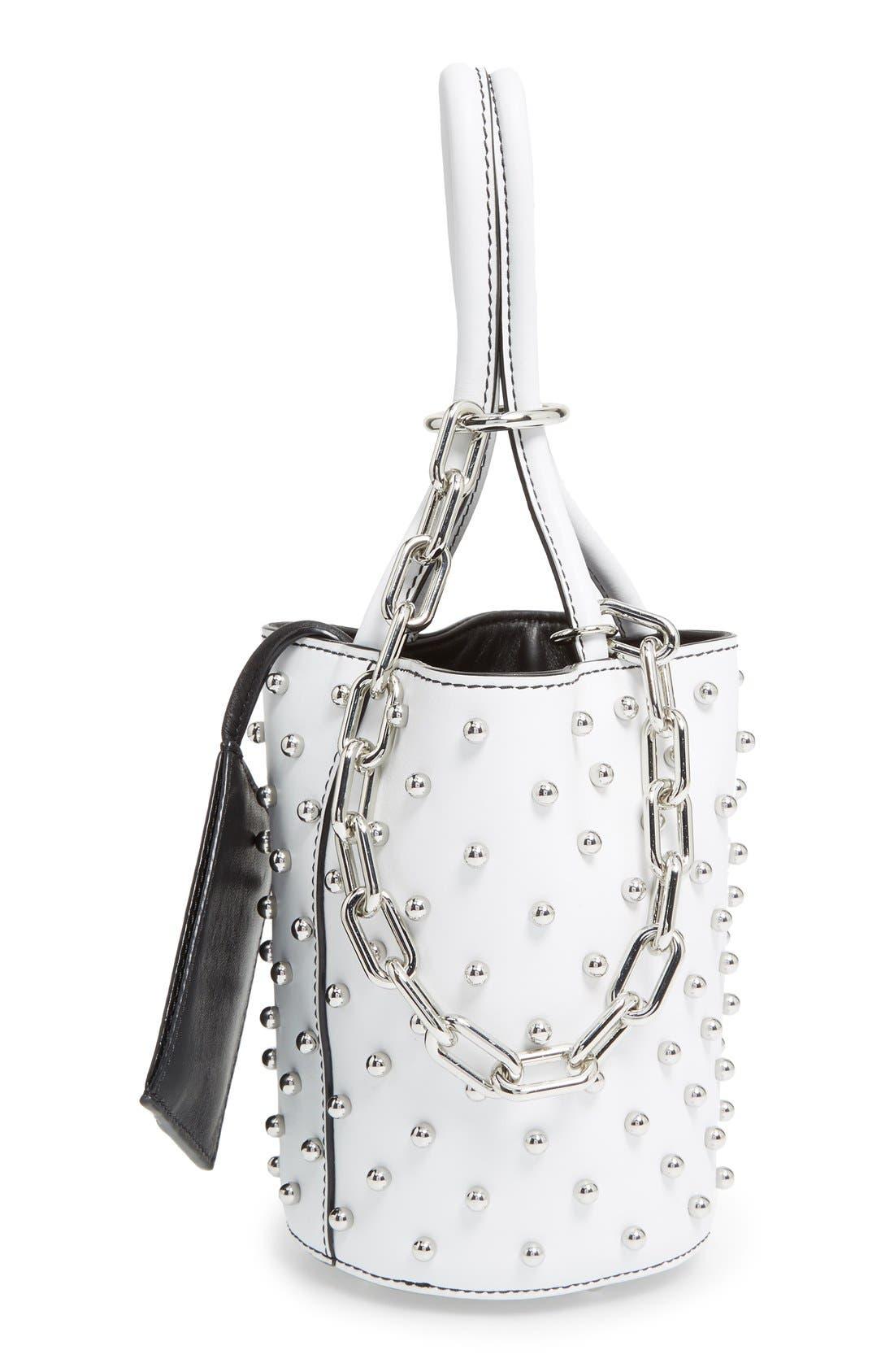 Alternate Image 4  - Alexander Wang Mini Palladium Leather Bucket Bag