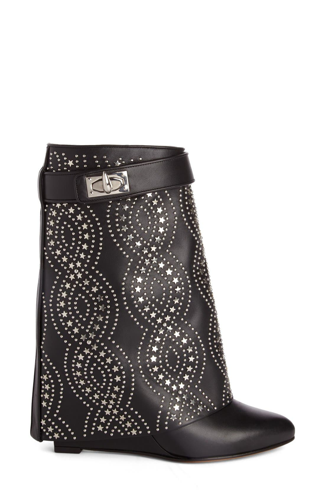 Alternate Image 4  - Givenchy Studded Shark Tooth Pant Leg Bootie (Women)