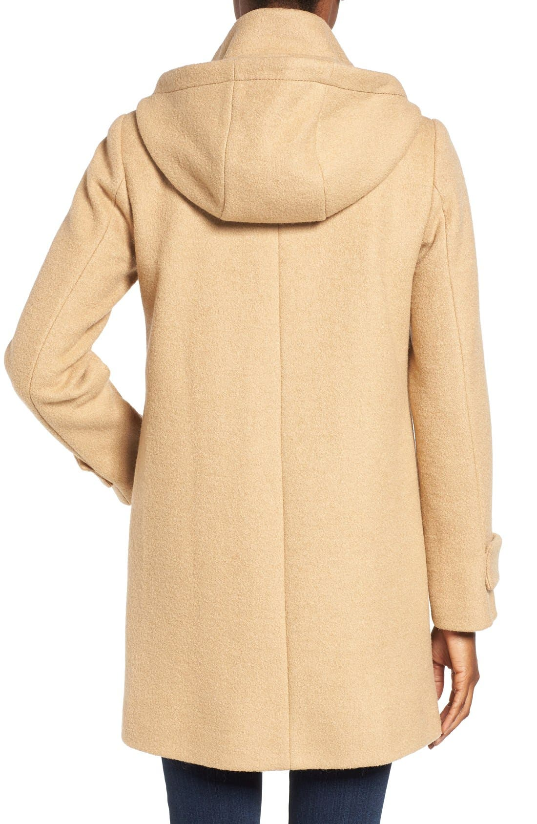 Alternate Image 2  - Vince Camuto Boiled Wool Blend Duffle Coat