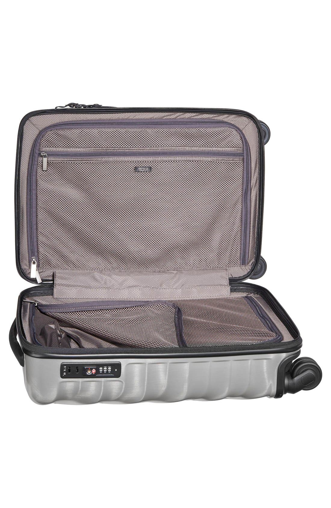 19 Degree 22 Inch Continental Wheeled Carry-On,                             Alternate thumbnail 5, color,                             Silver