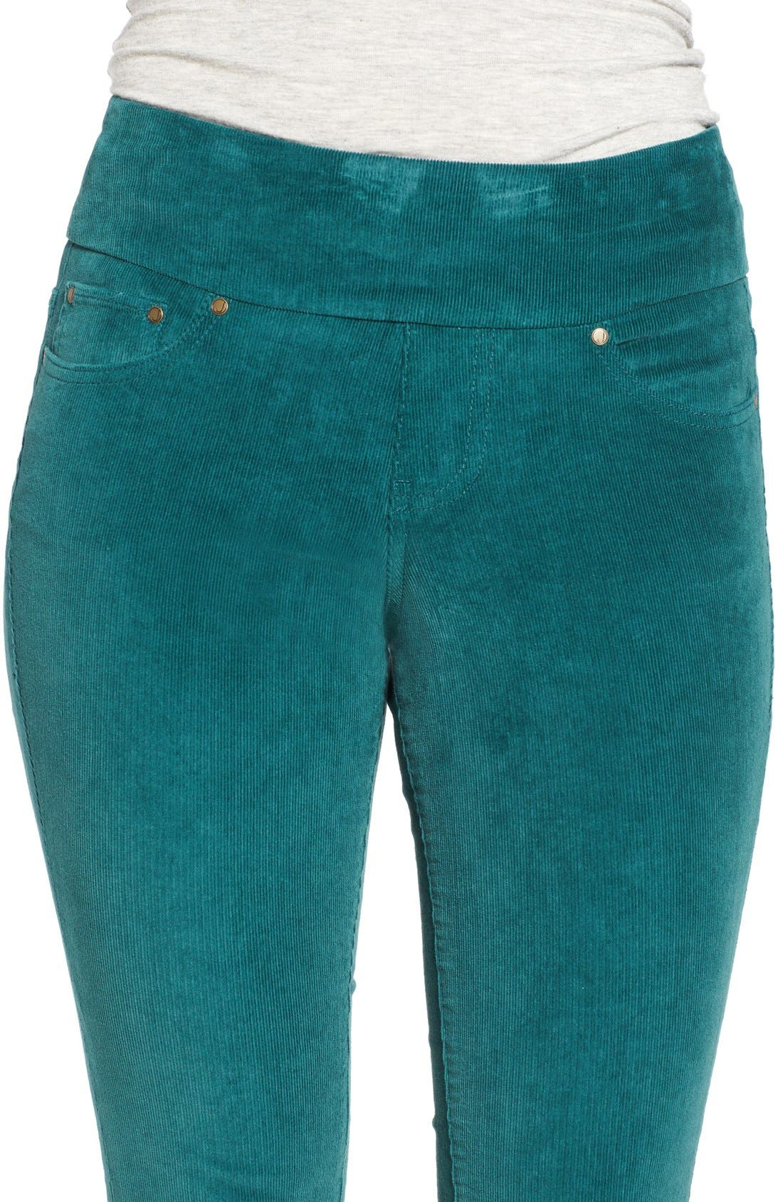 Alternate Image 4  - Jag Jeans Nora Pull-On Stretch Skinny Corduroy Pants (Regular & Petite)