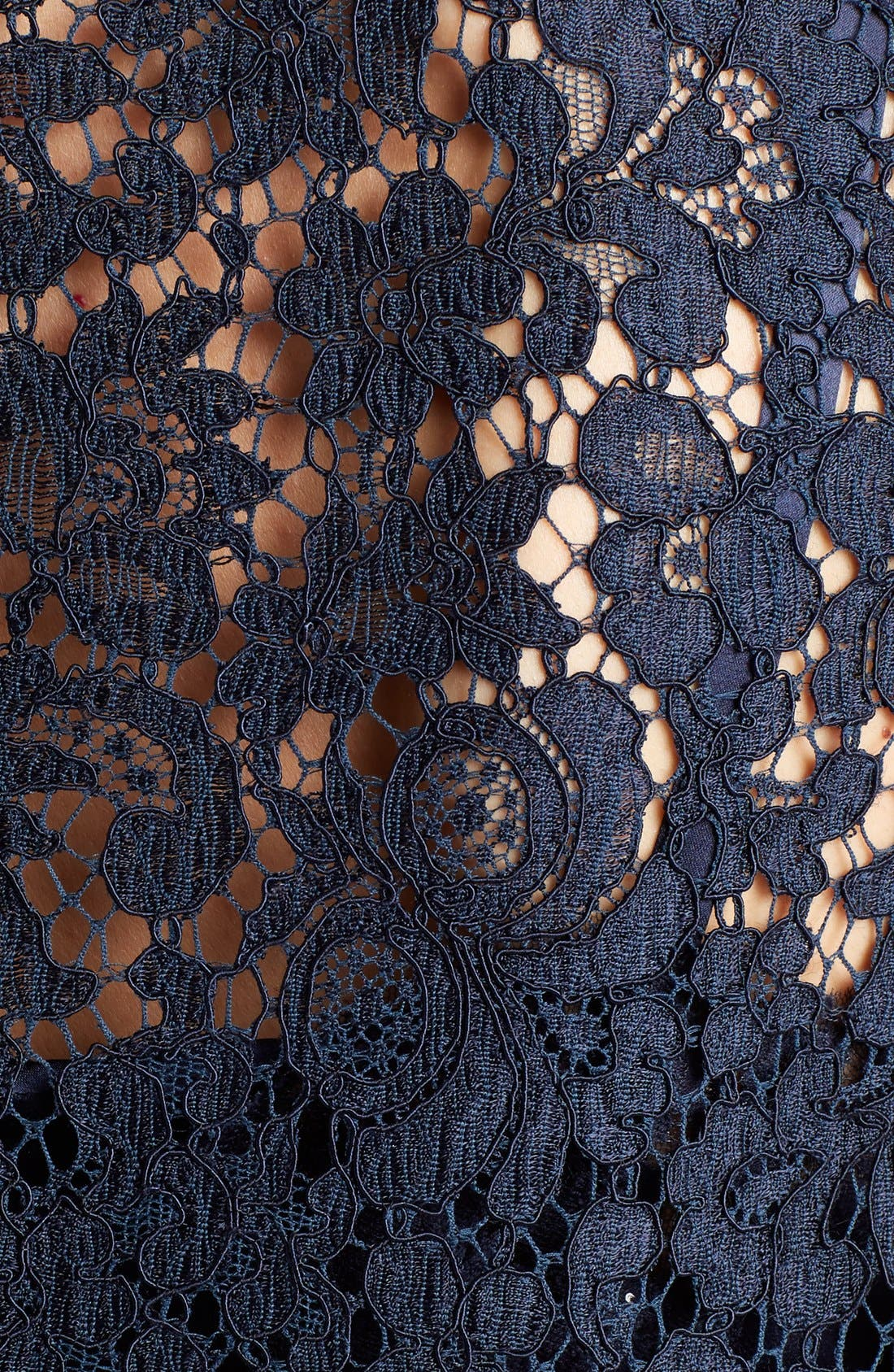 Lace Top,                             Alternate thumbnail 3, color,                             Dark Navy