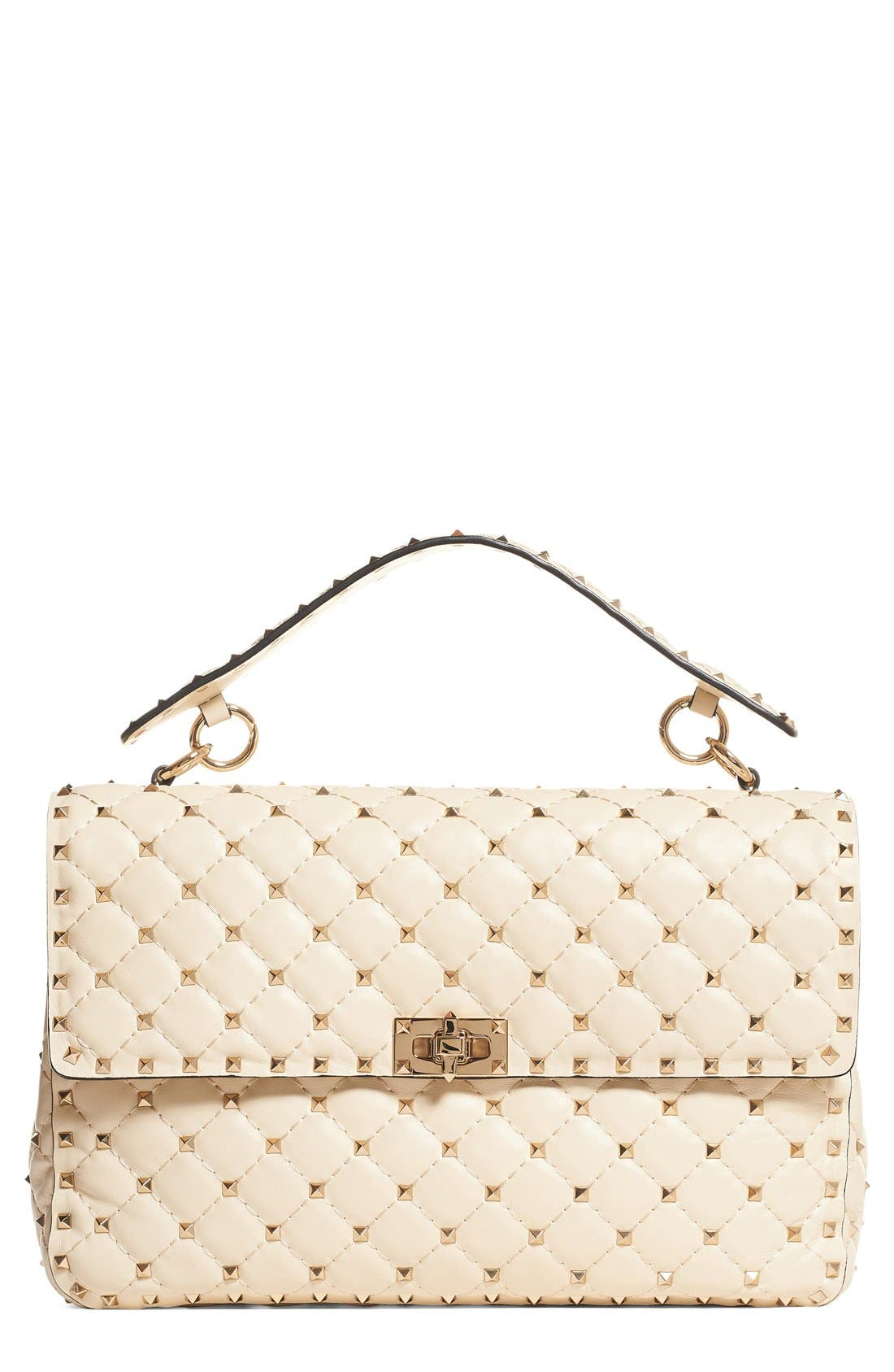 VALENTINO GARAVANI Rockstud Quilted Leather Shoulder Bag