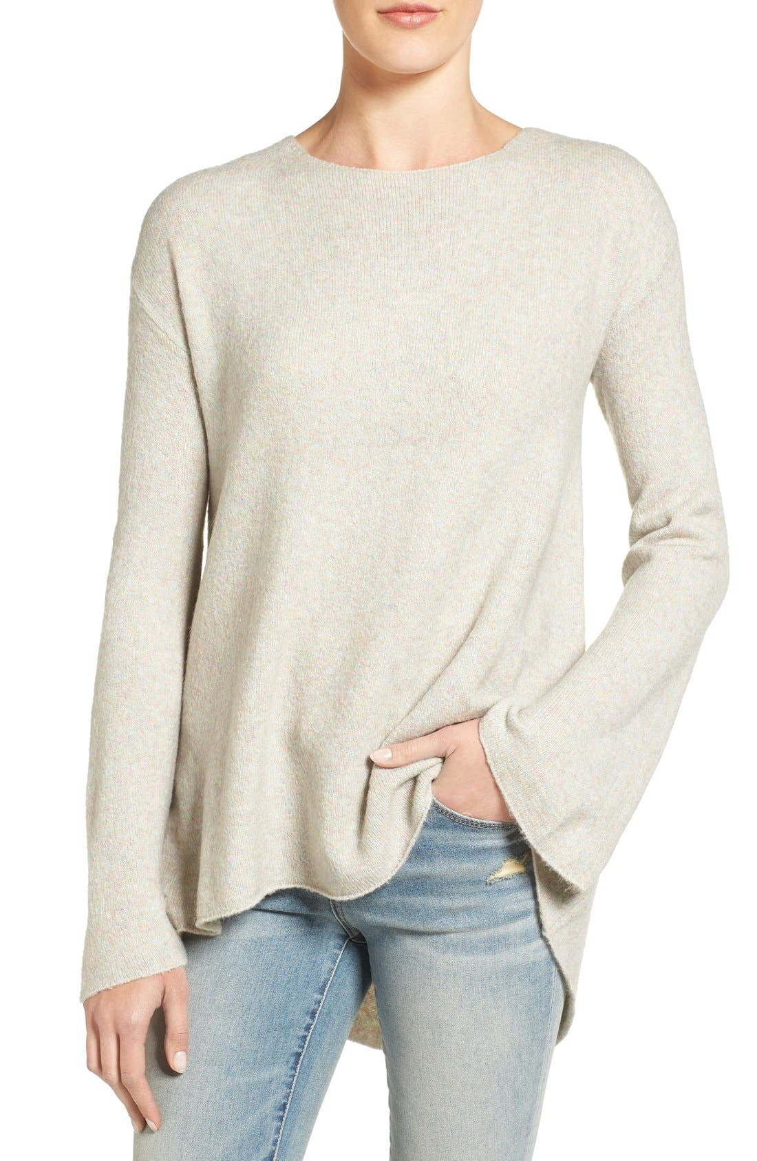Alternate Image 1 Selected - Hinge Drapey Pleat Back Sweater