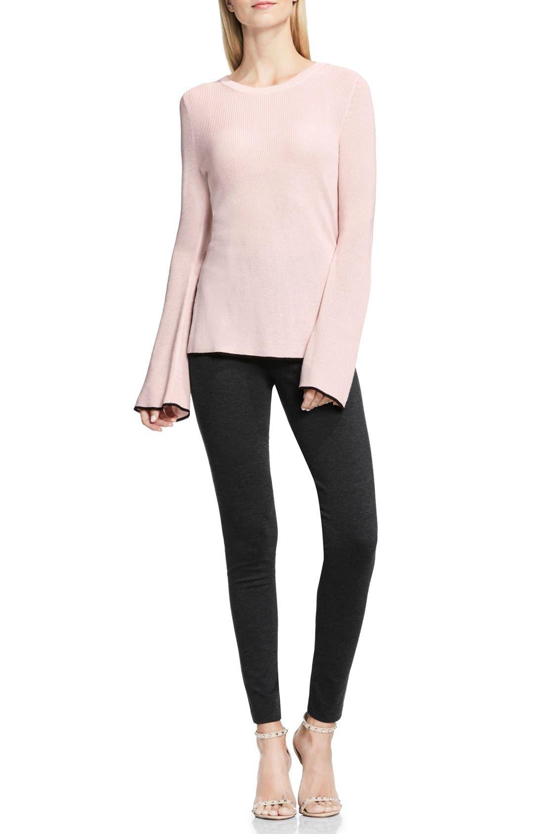 Alternate Image 2  - Vince Camuto Bell Sleeve Sweater (Regular & Petite)
