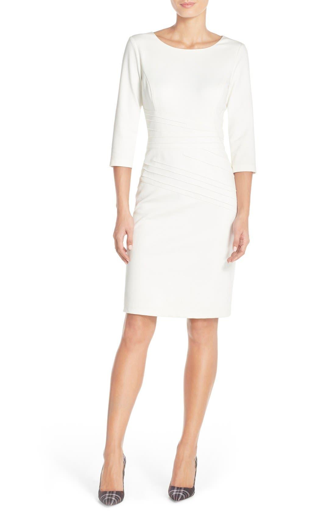Alternate Image 4  - Ellen Tracy Seamed PonteSheath Dress (Regular & Petite)