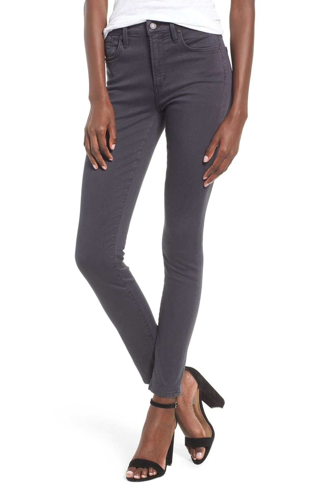 Alternate Image 1 Selected - AGOLDE Sophie High Rise Ankle Skinny Jeans (Aura)